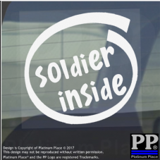 1 x Soldier Inside-Window,Car,Van,Sticker,Sign,Vehicle,Adhesive,Military,Army